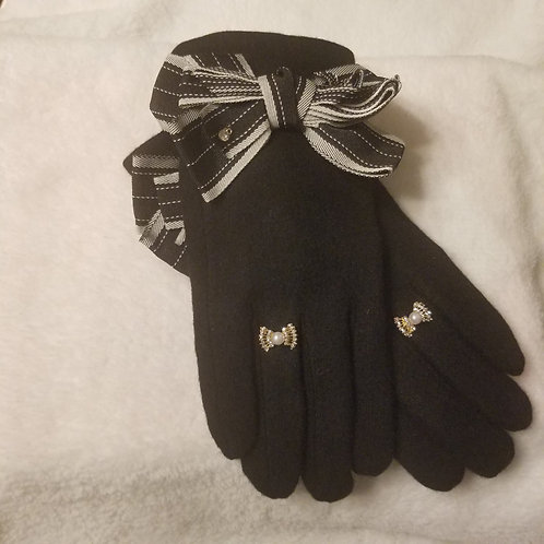Bow-knot Ring Gloves