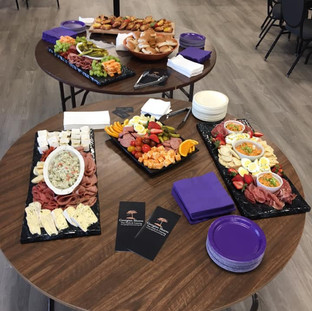 Look at this amazing spread generously provided by Georgian Shores Catering for our Gbay Gals Give Spring Social! — at Penetanguishene Curling Club.