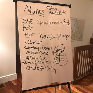Group Name Brainstorming!