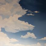Model Train Backdrop Mural - Sky