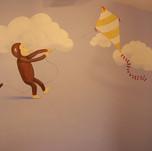 Curious George Kid's Mural