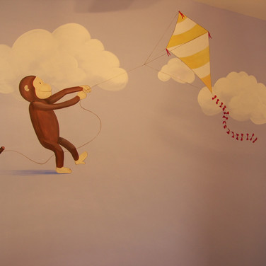 Curious George Kid's Mural