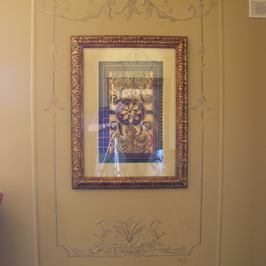 Picture frame mural