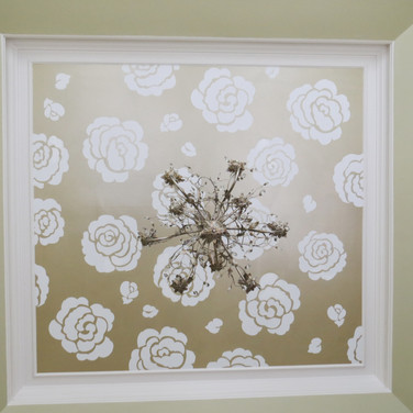 Girl's Nursery Mural in Metallics on Ceiling