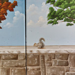tree and squirrel mural for city park