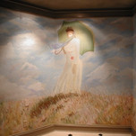 Monet entry mural