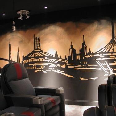 Modern Cityscape Mural