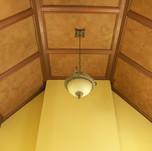Crackle plaster on ceiling