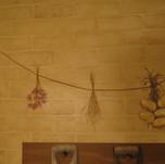 Dried flowers mural