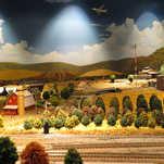 Model Train Backdrop Mural - Farm