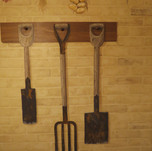 Potting shed tool murals
