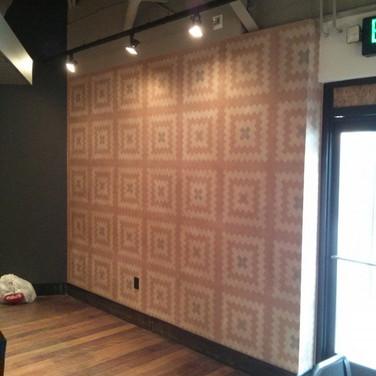 portland-Seven Lamps restaurant muralmural-accent-wall-commercial-re