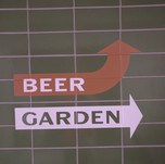 Hand painted directional signs