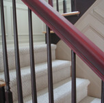 Aged Red Handrail with Aubergine spindal