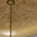 Metallic - Gold Leaf on ceiling with whi