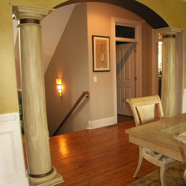 faux wood graining on columns.jpg