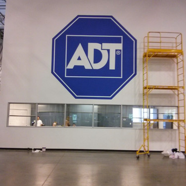 Commercial - Mural of Company Logo ADT