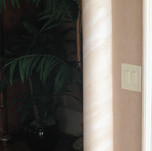 faux tile and gold on column