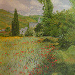 Monet impressionist mural