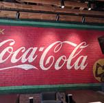 repainted 1920's Coca-Cola sign