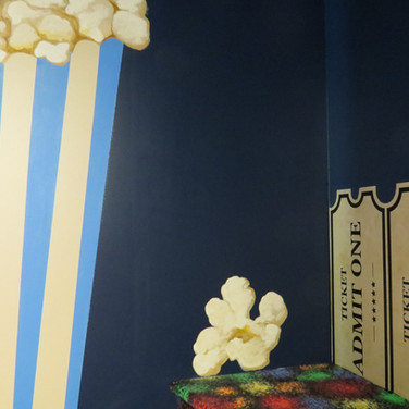 Kid's Movie Theatre Room Mural