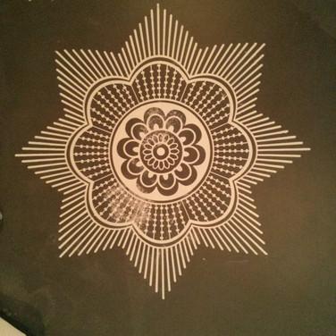 Mandala pattern for Indian restaurant