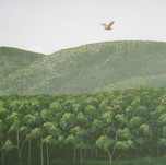 Model Train Backdrop Mural - Trees