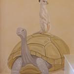 African Kid's Mural - Meerkat