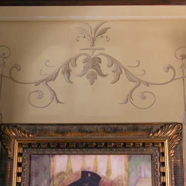 Scroll picture molding murals