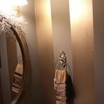 Metallic stripe in powder room.jpg