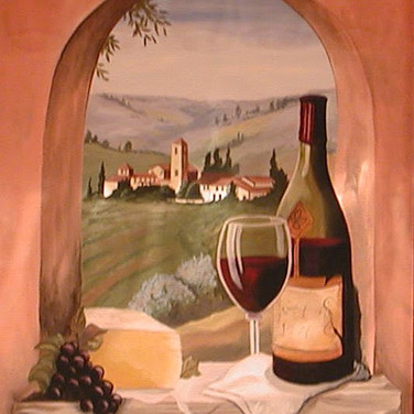 Red Wine Mural