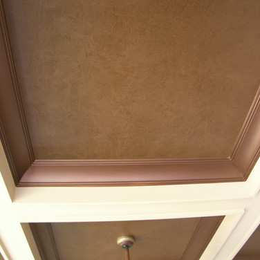 Faux Texture - Glaze in Coffer Ceiling