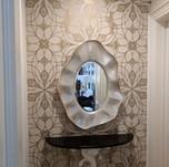 Metallic Pattern in Venetian Plaster