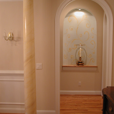 Painted faux marble column