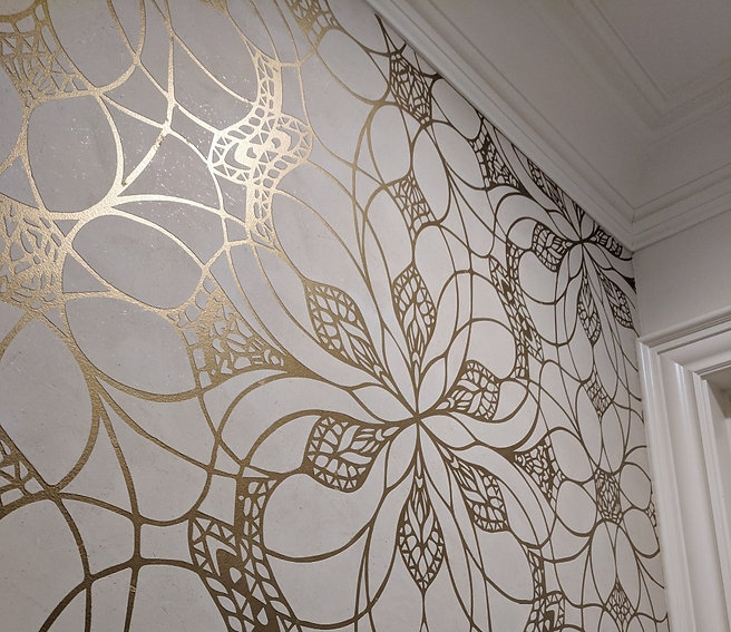 Venetian Plaster with gold inlay