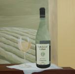 White wine mural window