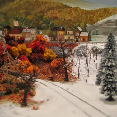 Model Train Backdrop Mural - Fall