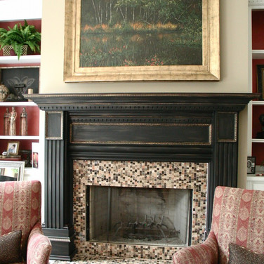 faux distressed mantle