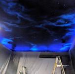 Modern Glow in Dark Mural