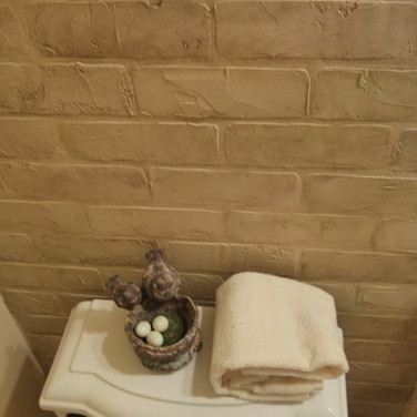 Faux brick made of plaster