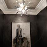 Glass beads and metallic wax walls