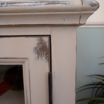 painted chalk paint distressed cabinet