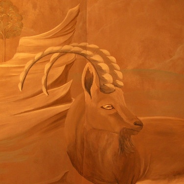 Old World Mural of Ibex