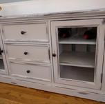 chalk paint distressed cabinet