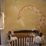 Kid's Nursery Giraffe Mural