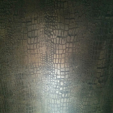 Metallic finish Faux Crocodile Leather.j