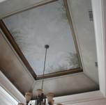 Vaulted ceiling tree mural