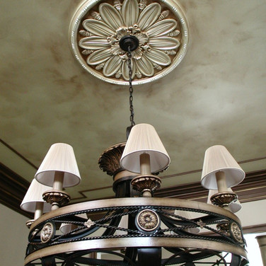 Metallic - Ceiling with Bronze wash