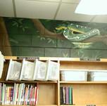 Elementary School Library Mural - Snake