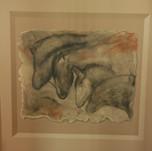 Horse cave man mural